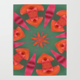 Succulent Red and Yellow Flower Abstract I Poster