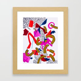 Wiggles and Things Framed Art Print
