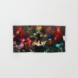Emotional Abstract Artwork with Dark Colors Hand & Bath Towel
