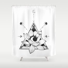 Lotus Crescent Shower Curtain