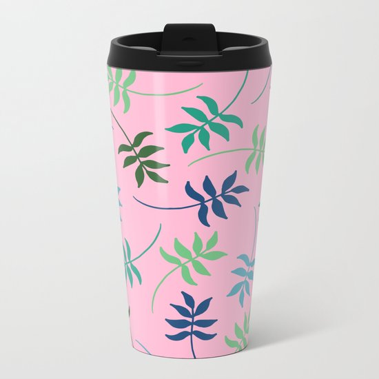 Tropical leaves Metal Travel Mug
