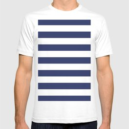 Navy Blue and White Stripes T-shirt