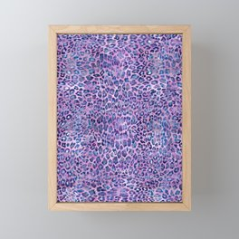 Purple Leopard Print Framed Mini Art Print