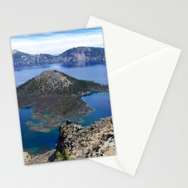 Wizard Island - Crater Lake National Park Stationery Cards