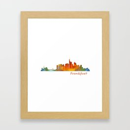 Frankfurt am Main, City Skyline, Citiscae art watercolor V1 Framed Art Print