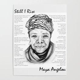Still I Rise Print Maya Angelou Poem Poster