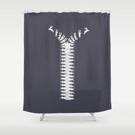 Unzip your imagination Shower Curtain