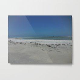 Sandbar in Gulf of Mexico Metal Print