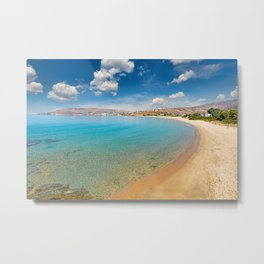 St. Peter has the best beach in Andros, Greece Metal Print