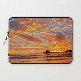 California Dreaming (cropped) ~ Huntington Beach Pier Laptop Sleeve