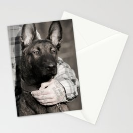 Love and protection for humans and animals Stationery Cards