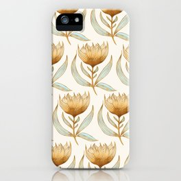 Bohemian Sunflower Pattern iPhone Case