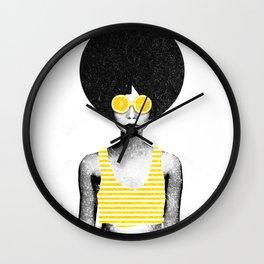 Lemon Jazz Wall Clock