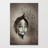copper Canvas Prints featuring Copper by Lisa Lan