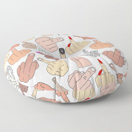 Middle Fingers Floor Pillow