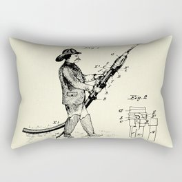 Firemans Fire Hose Rest or Support Patent Print- 1889 Rectangular Pillow