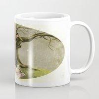 macaroons Mugs featuring Tea & Macaroons by Erika Meza