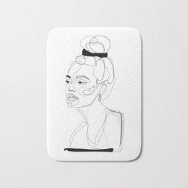B&W Sketch Bath Mat