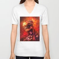 mars V-neck T-shirts featuring Mars by Vincent Vernacatola