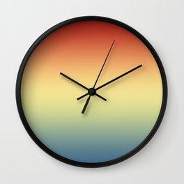 Aega - Colorful Classic Abstract Minimal Retro 70s Color Gradient Wall Clock