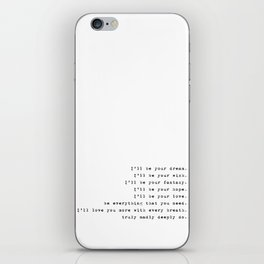 Truly Madly Deeply - Lyrics Collection iPhone Skin