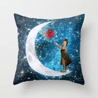the little prince Throw Pillows featuring The Little Prince by Diogo Verissimo