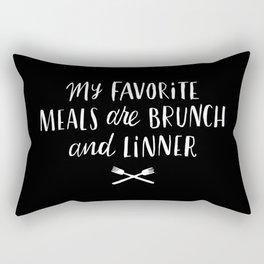 Favorite Meals Rectangular Pillow