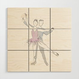 Ballerina Couple Wood Wall Art