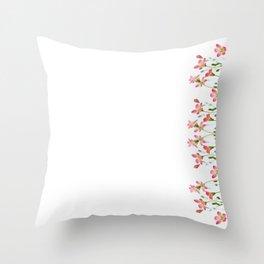 Saxifrage Flowers Throw Pillow