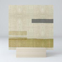 """Burlap Texture Natural Shades"" Mini Art Print"