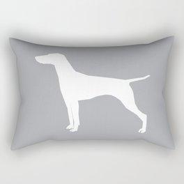 Vizsla minimal basic grey and white dog art dog breed pet portraits dog breeds Rectangular Pillow