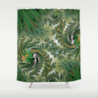 fractal Shower Curtains featuring Fractal by nicky2342