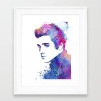 elvis presley Framed Art Prints featuring Elvis Presley by WatercolorGirlArt