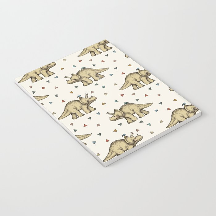 Triceratops & Triangles Notebook