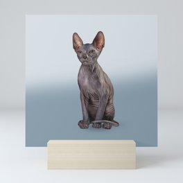 Drawing Sphynx kitten Mini Art Print