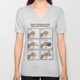 Darwin's Finches Unisex V-Neck