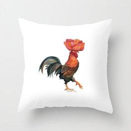 Poppycock 4 Pun Throw Pillow