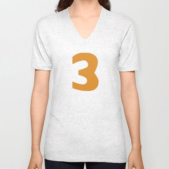 Number 3 Unisex V-Neck
