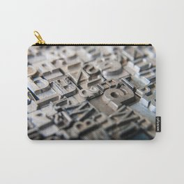 Old Metal Letters Carry-All Pouch