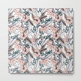 Exotic flowering and pattern geometric Metal Print