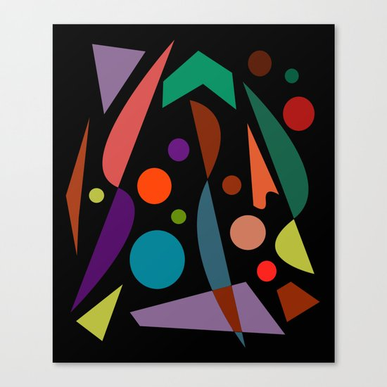 Abstract #306 String Trio Canvas Print
