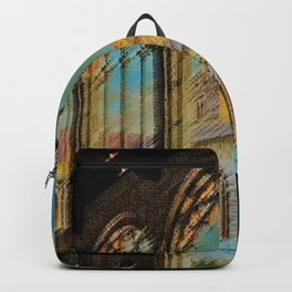 Campo Santo - Interior Courtyard Pisa Landscape by Jeanpaul Ferro Backpack