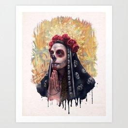 """Katrina"" - Skull girl Art Print"
