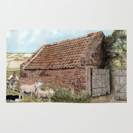 Farm Shed with Sheep Rug