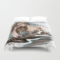 olivia joy Duvet Covers featuring Olivia by Anna Sun