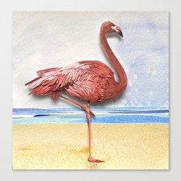 Weekend Flamingo Canvas Print