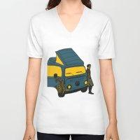 van V-neck T-shirts featuring Van by AndaLouz