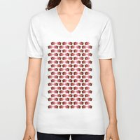 pigs V-neck T-shirts featuring Pigs in Mud by Roxie Rose Design