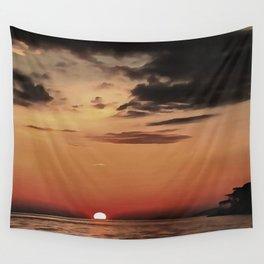 Autumn Evening Sundowner Wall Tapestry