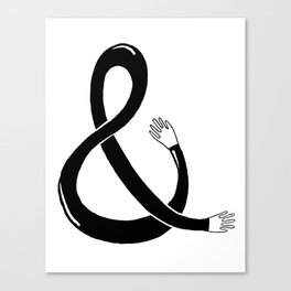 Handpersand Black Canvas Print